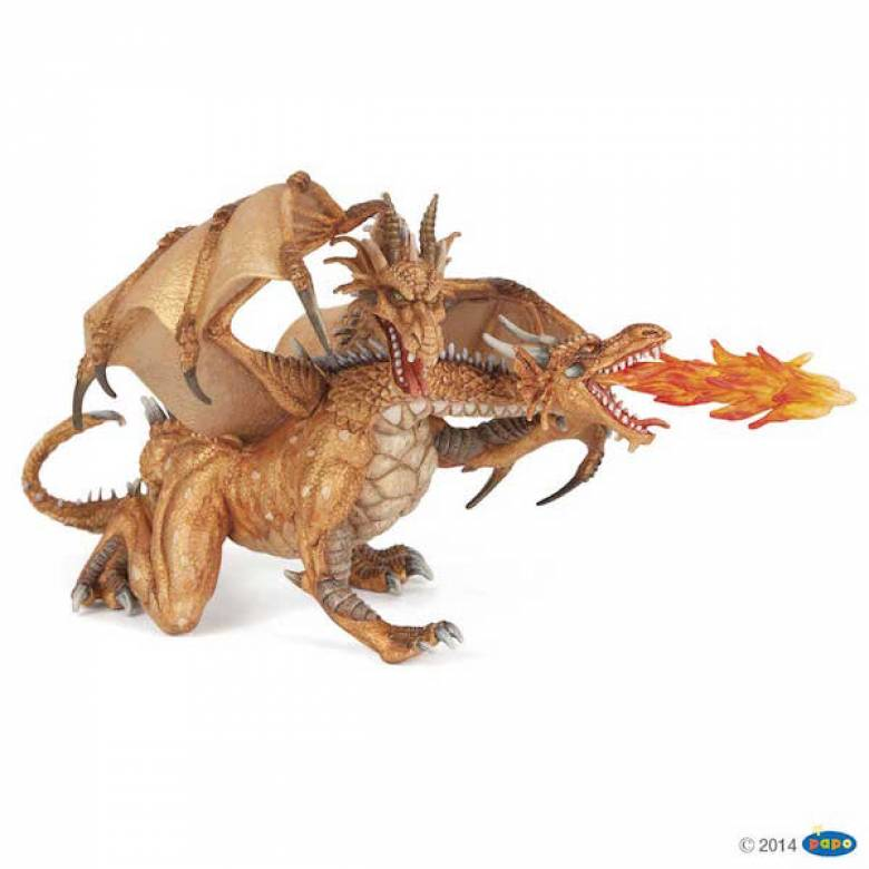 2 Headed Gold Dragon - Papo Fantasy Figure