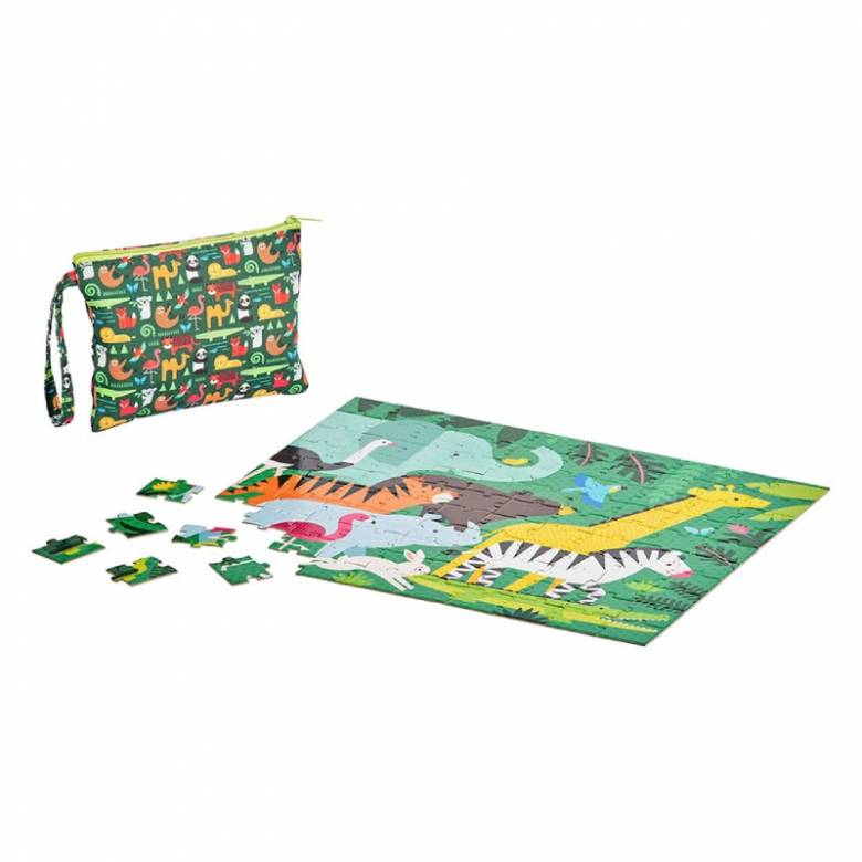Two Sided On The Go Puzzle - Animal Menagerie 3+