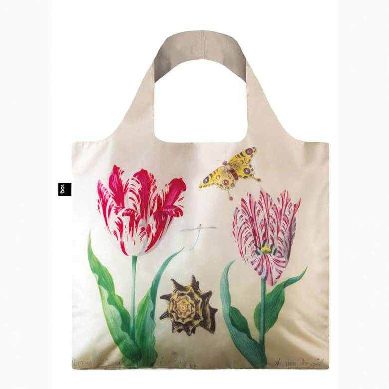 Two Tulips Marrel - Reusable Tote Bag With Pouch