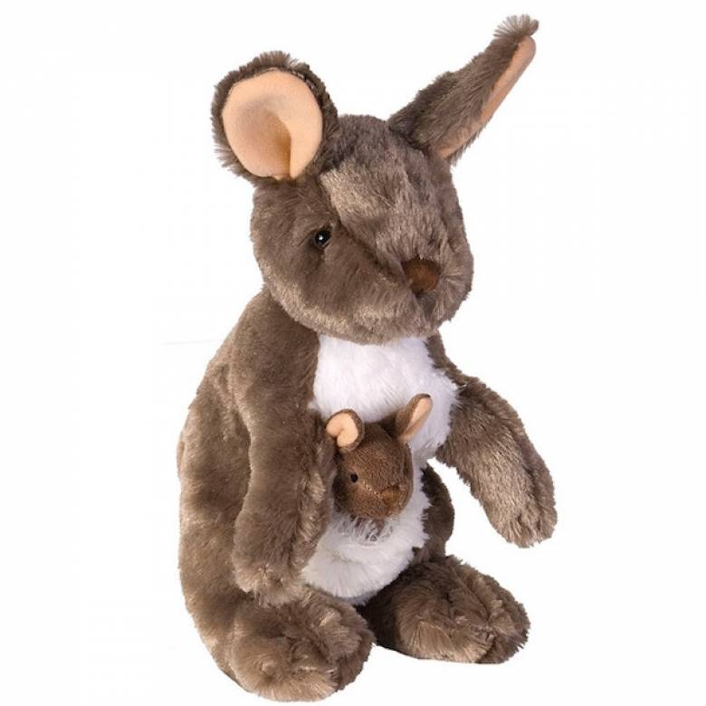 Small Kangaroo And Joey Soft Toy 20cm