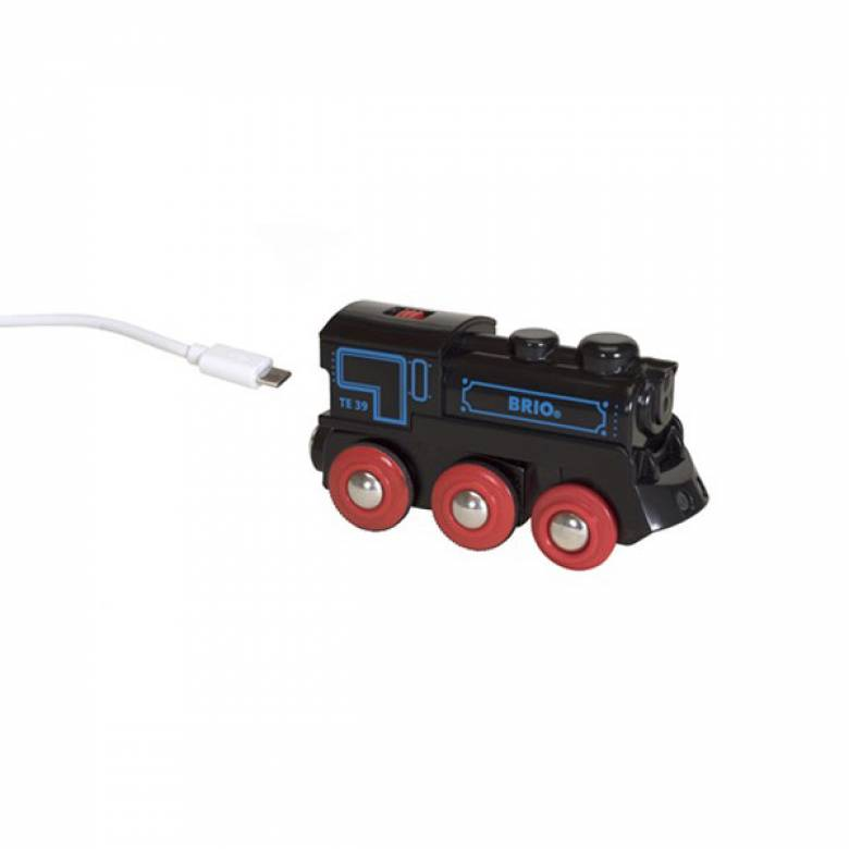 Rechargeable Engine Mini USB BRIO Wooden Railway Age 3+