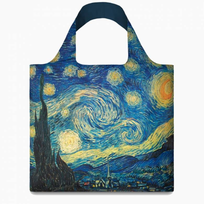 Van Gogh Starry Night - Reusable Tote Bag With Pouch