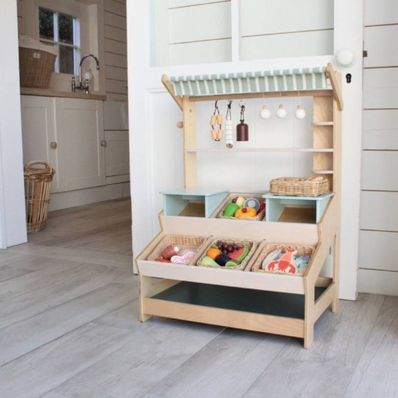 Vegetable Basket Wooden Play Food Set 3+