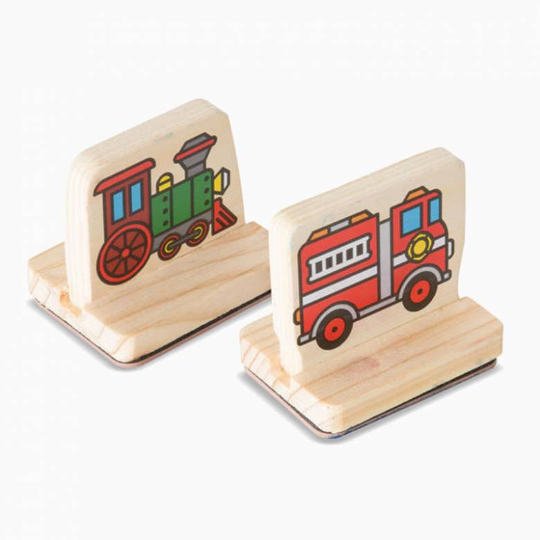 My First Wooden Stamp Set - Vehicles 3+