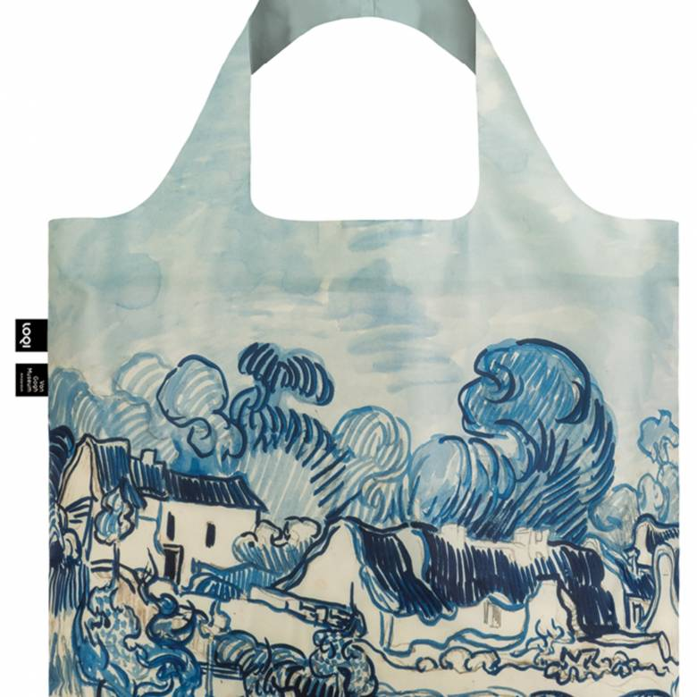 Old Vineyard and Landscape - Reusable Tote Bag With Pouch