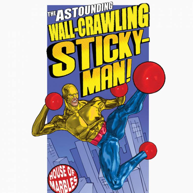 Wall Crawling Sticky Man