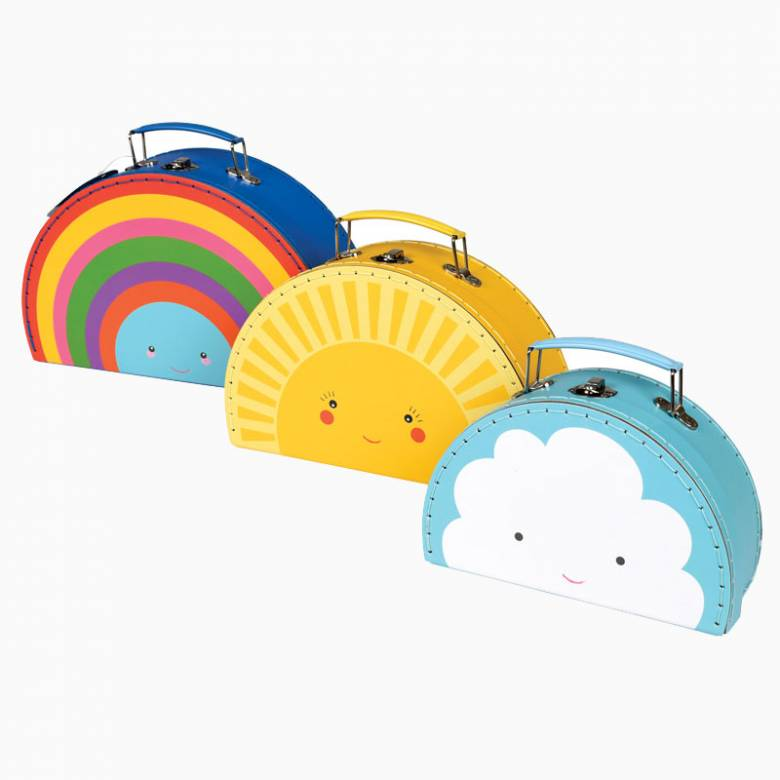 Happy Cloud Cardboard Suitcase