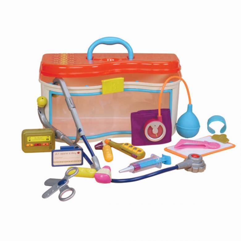 Wee MD Doctor Dress Up Kit With Case By B. Toys 13m+