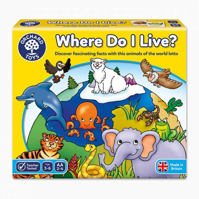 Where Do I Live Animals Of The World Lotto Game By Orchard 3+