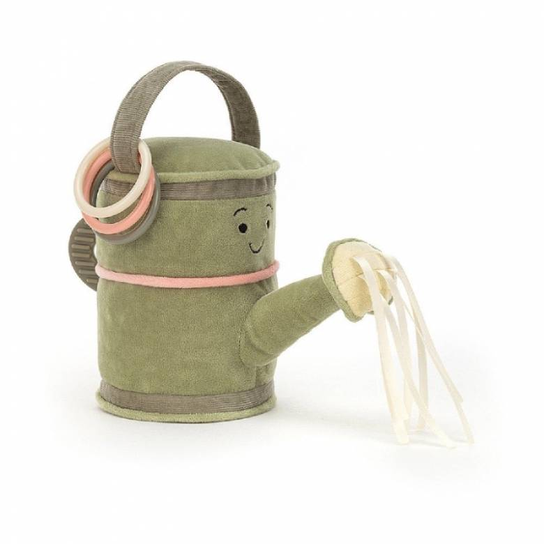 Whimsy Garden Watering Can Soft Activity Toy By Jellycat