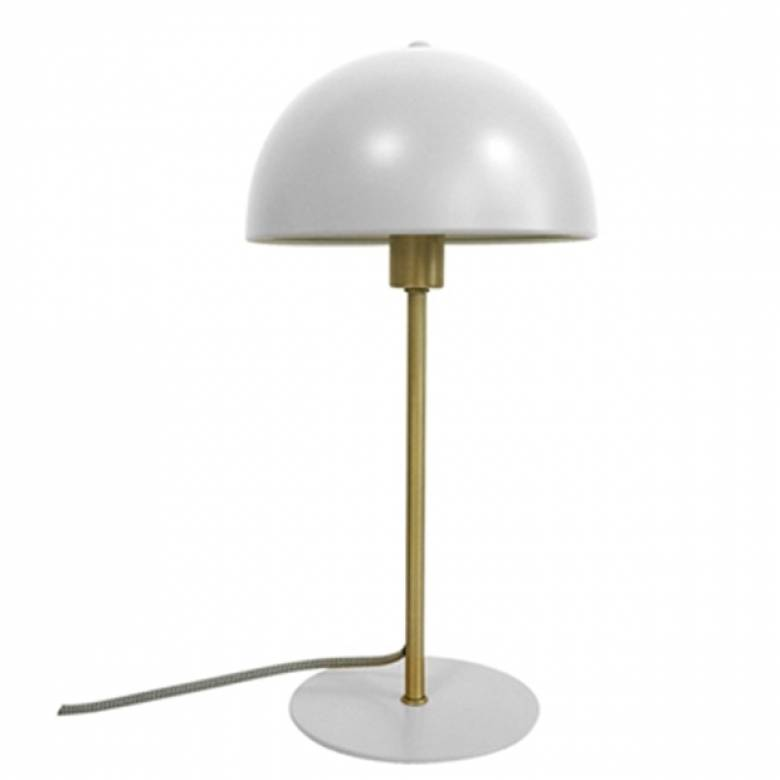 Bonnet Metal Table Lamp In White
