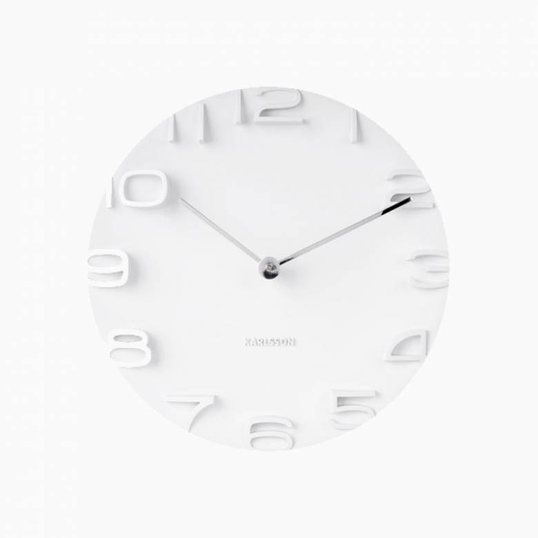 On The Edge Wall Clock In White