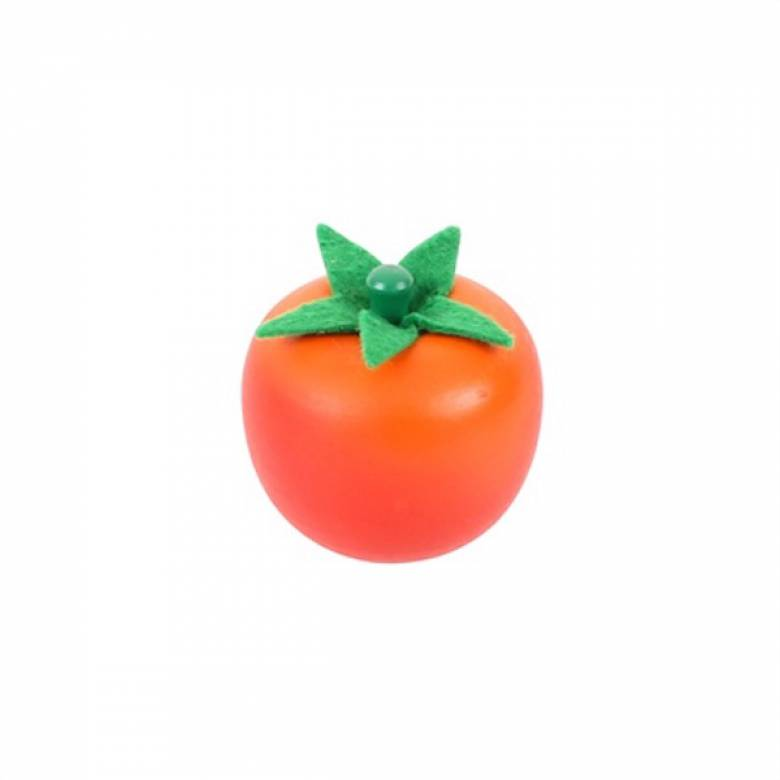 Single Wooden Food WHOLE TOMATO