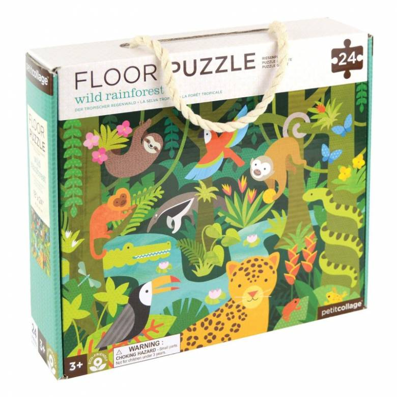 Wild Rainforest Floor Puzzle 24pc 3+