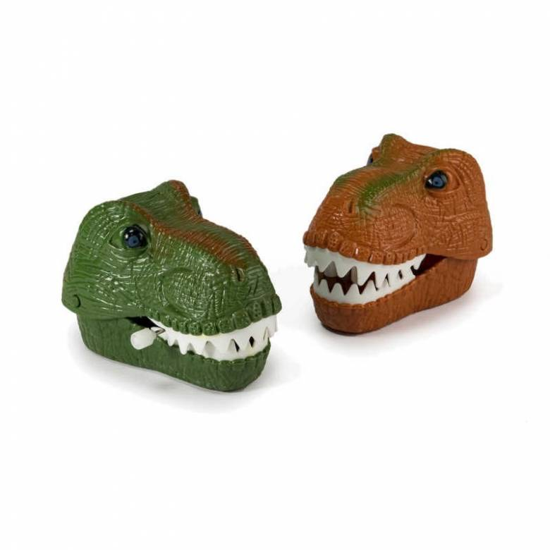 Wind Up Chattering Dinosaur Head Toy