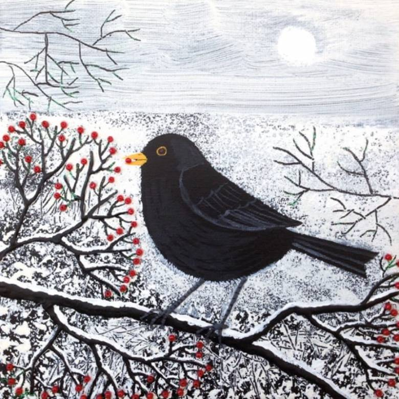 Winter Gatherer - Pack Of 8 Christmas Cards By M&G