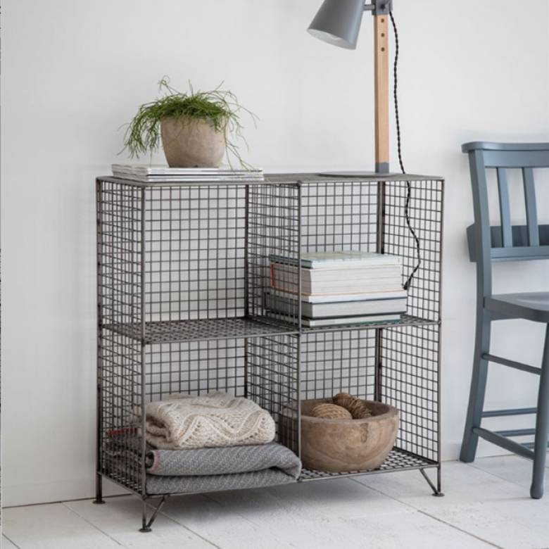 Portobello Wire Shelving Rack With 4 Holes