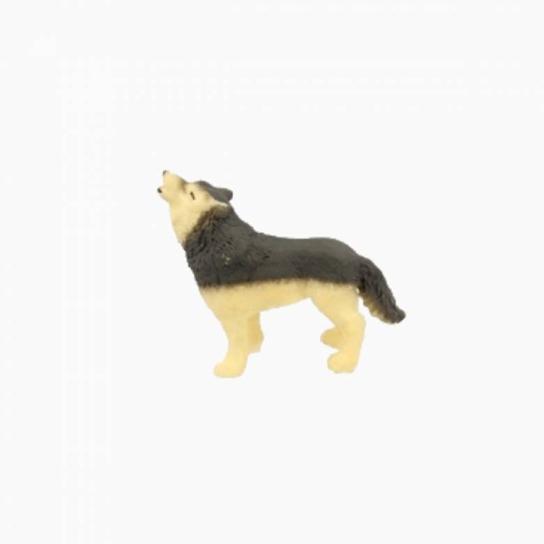 Wolf Stretchy Beanie Animal Toy 3+