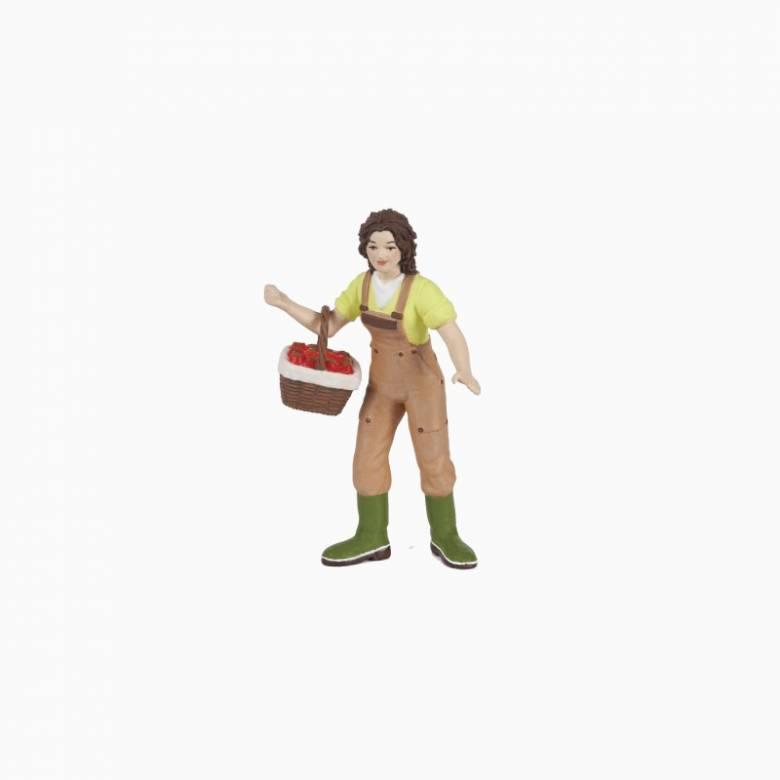 Woman Farmer With Basket - Papo Farm Figure