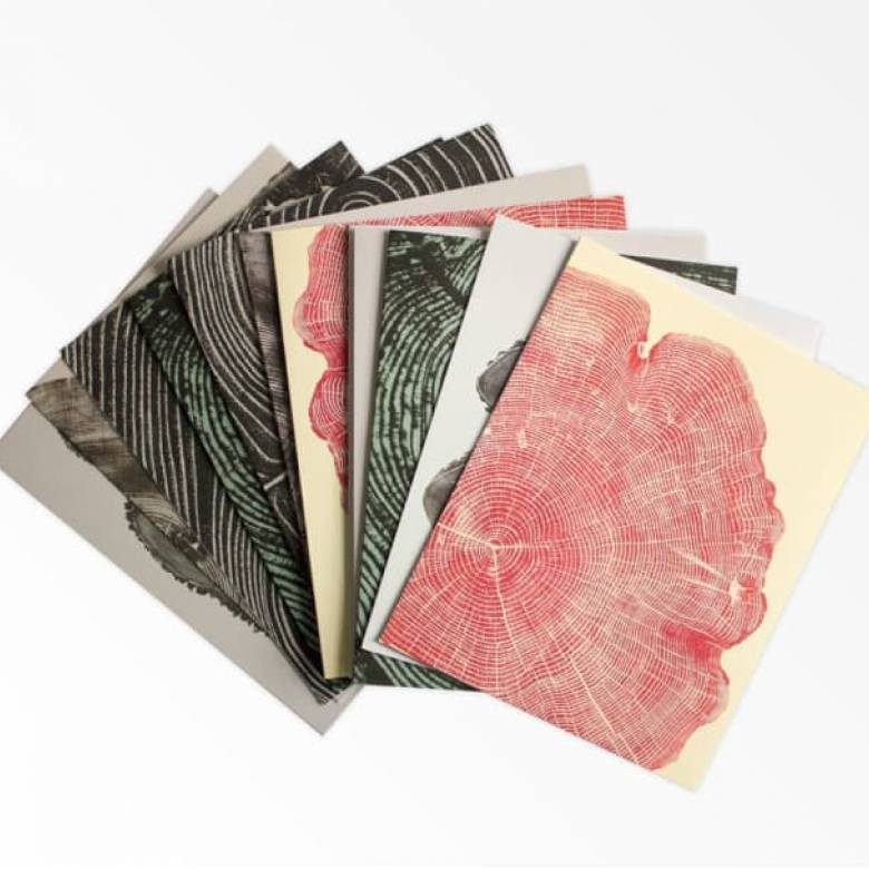 Box Of 12 Woodcut Notecards