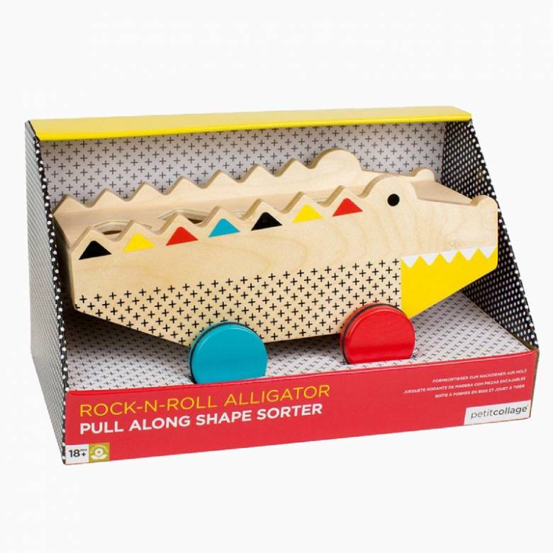Wooden Alligator Shape Sorter And Pull Along Toy 18m+