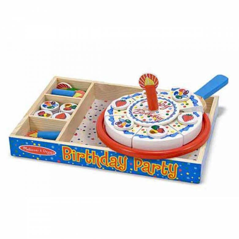 Wooden Birthday Cake Play Set By Melissa & Doug 3+