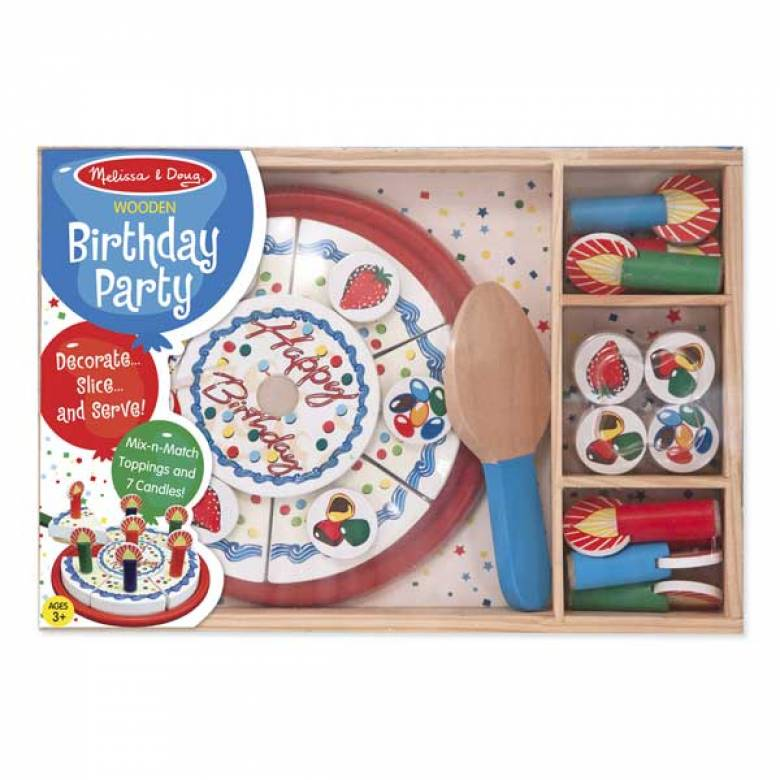 Wooden Birthday Cake Play Set 3+