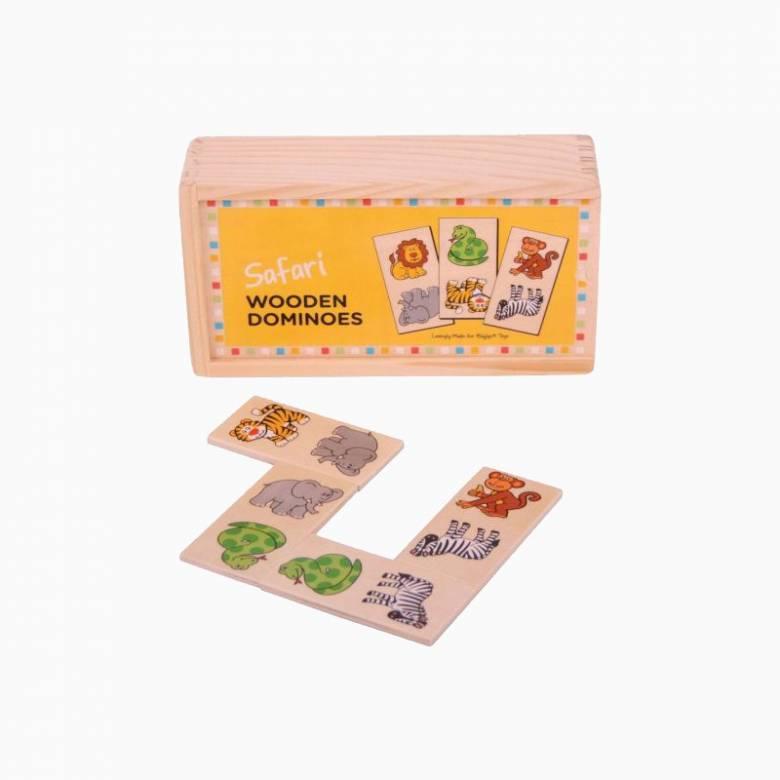 Wooden Childrens Picture Dominoes - Safari 1+