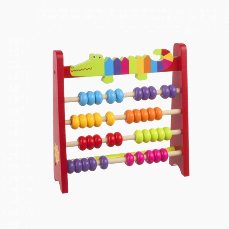 Wooden Crocodile Abacus 3+