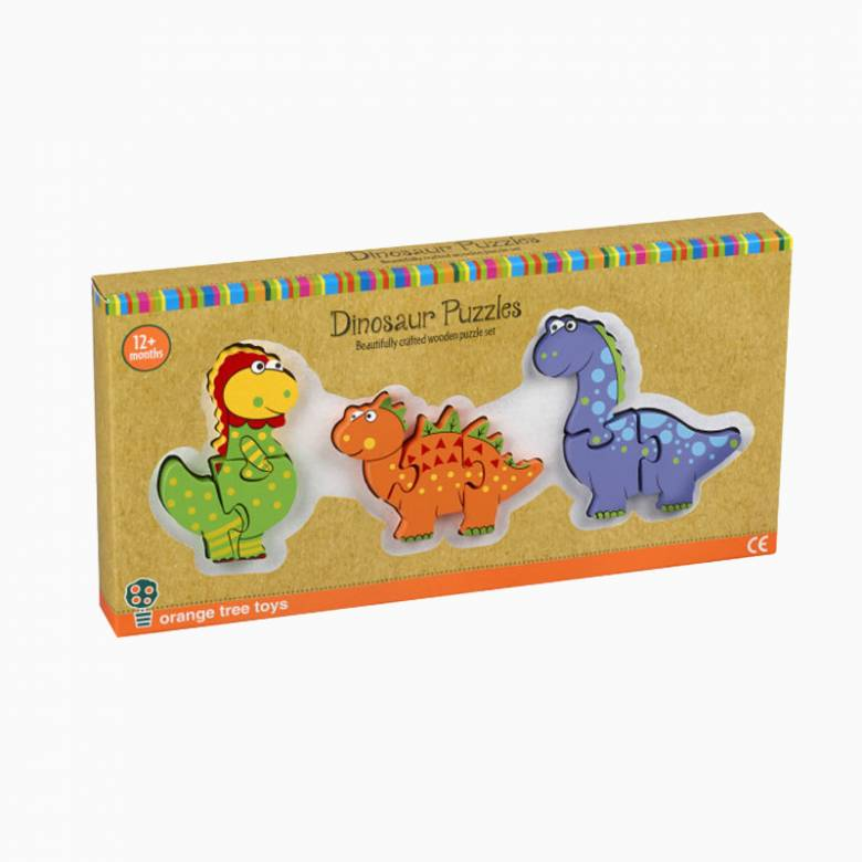 Wooden Dinosaur Mini Puzzle Set 1+
