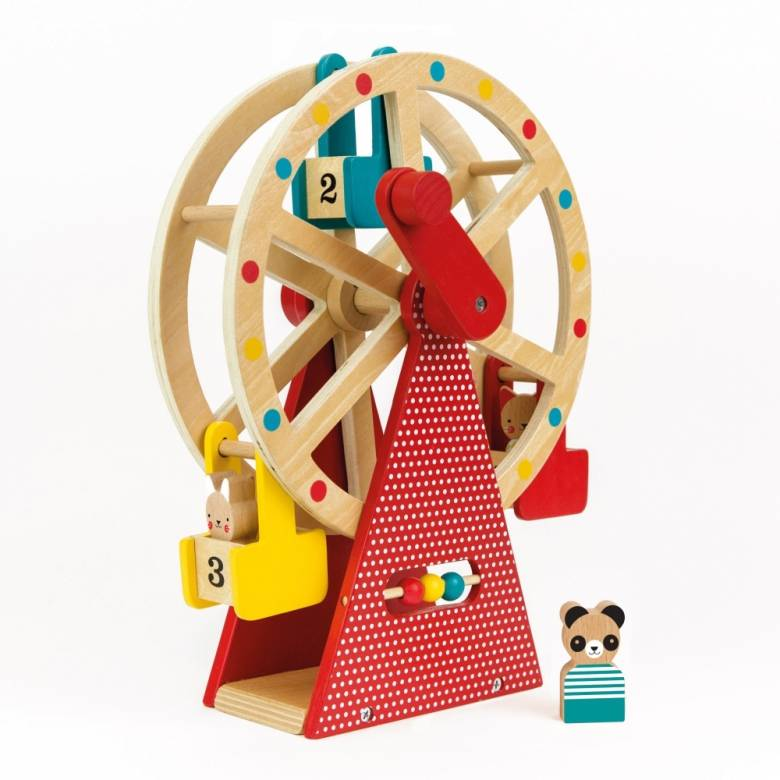 Wooden Carnival Play Set Ferris Wheel Toy 3+