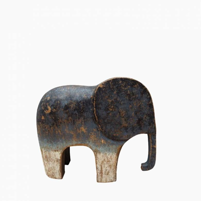 Wooden Painted Elephant Ornament