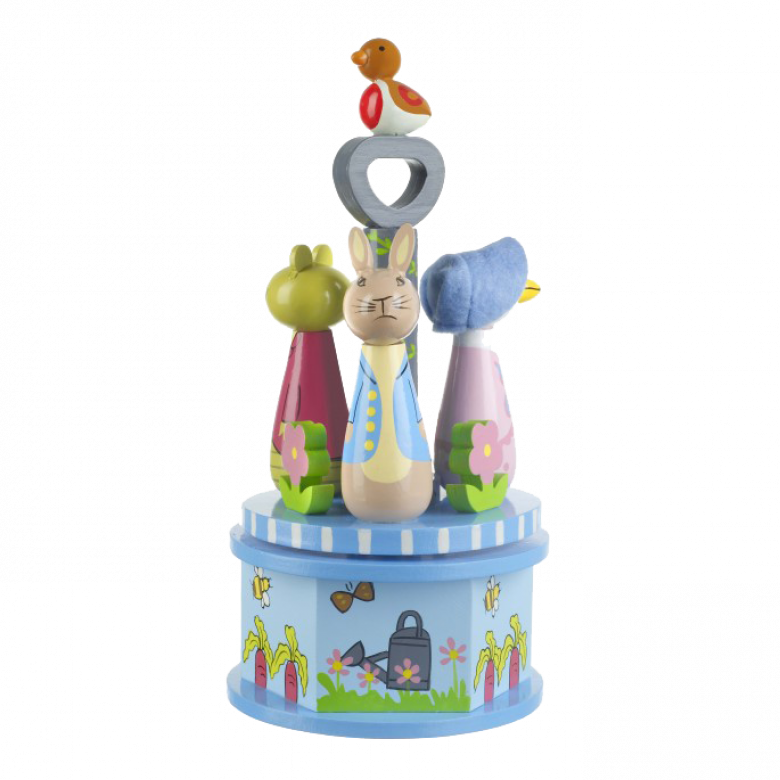 Peter Rabbit - Musical Wooden Carousel Toy By Orange Tree