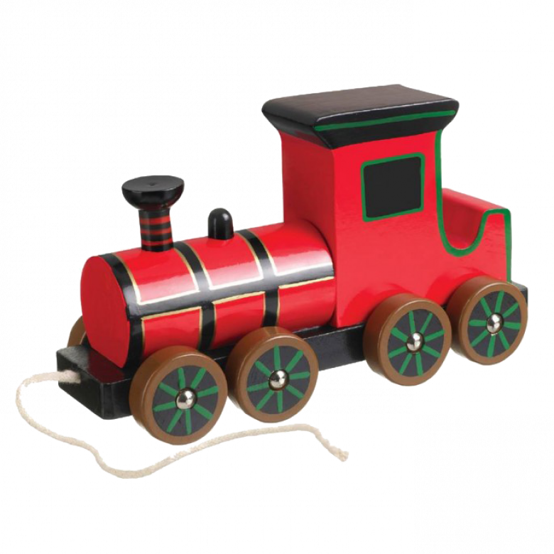 Retro Steam Train Pull Along Toy 1+