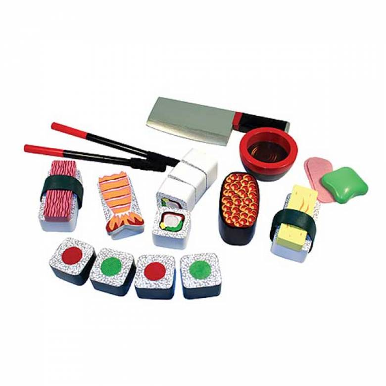 Wooden Sushi Slicing Play Food Set 3+