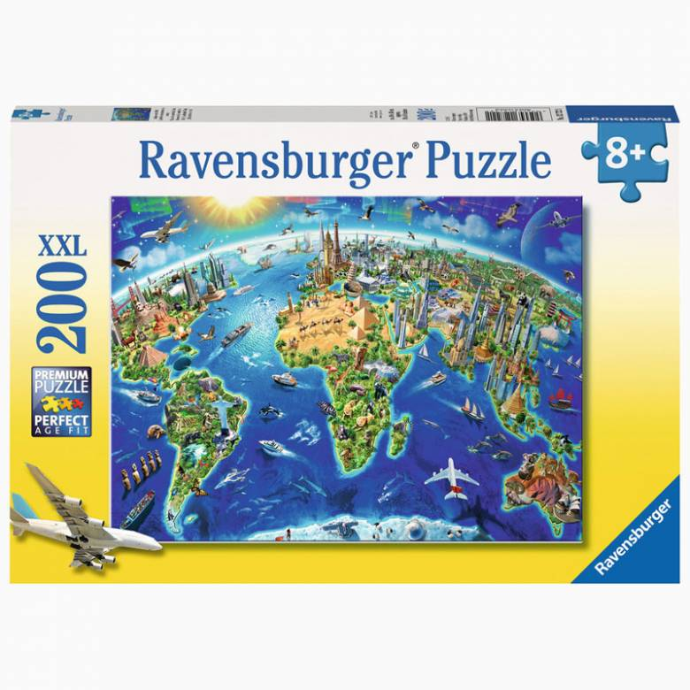 World Landmarks 200 Piece Jigsaw Puzzle 8+