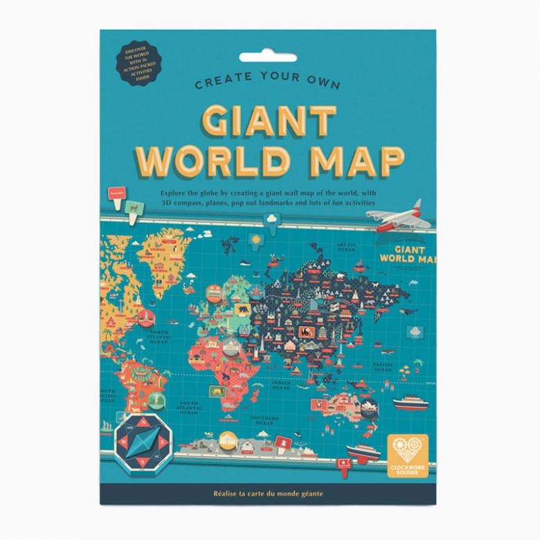 Create Your Own Giant World Map 7+