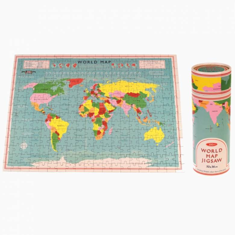 World Map Puzzle In Tube Box