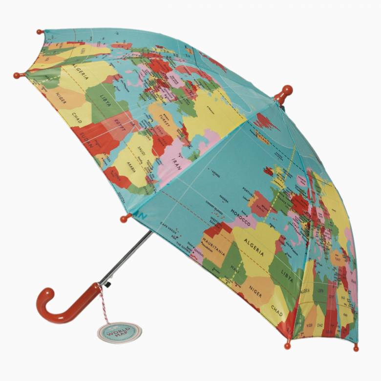Vintage World Map - Childrens Umbrella 3+