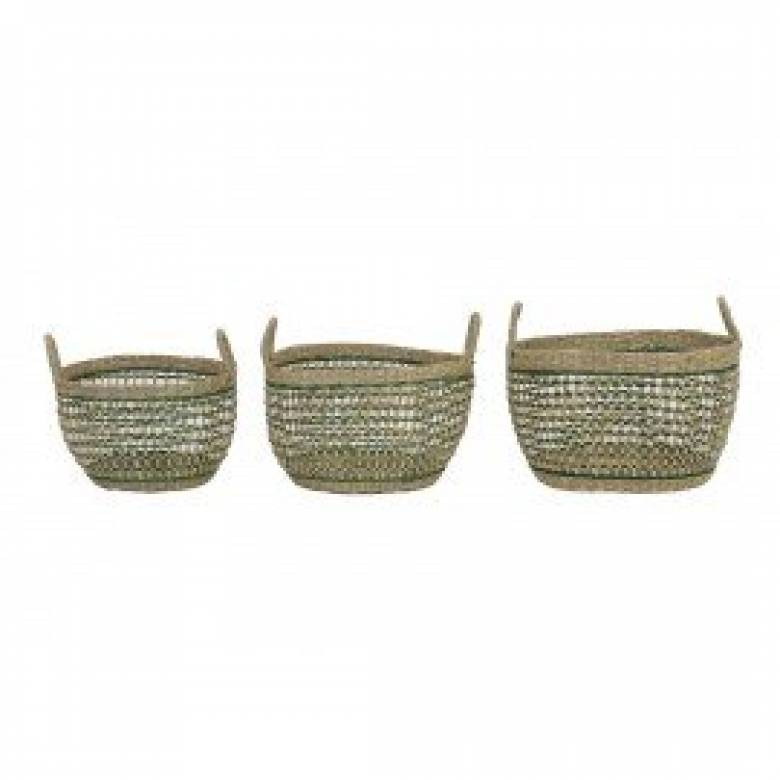 Tarac Green Seagrass Basket S 30x20cm