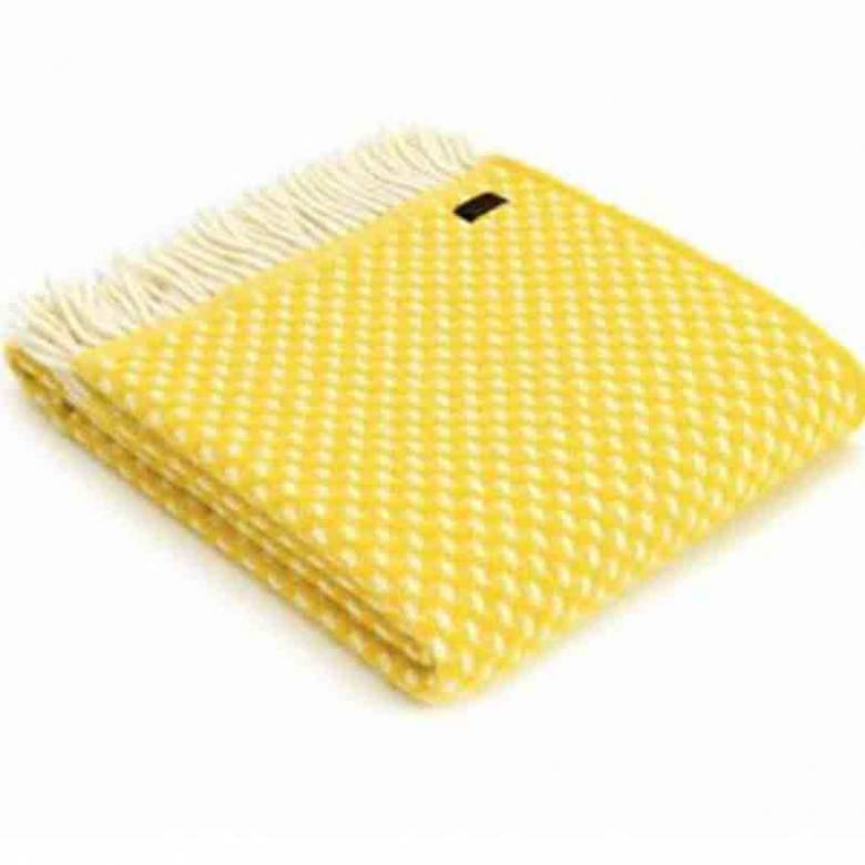 Yellow Twill Throw Blanket 150x183cm