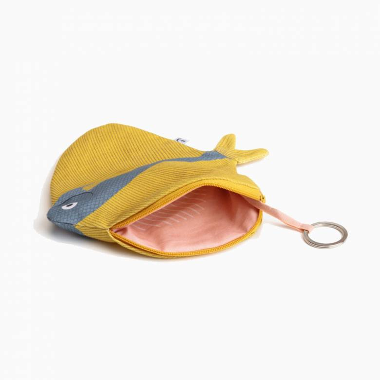 Zipped Fish Pouch By Don Fisher - Yellow Fanfish