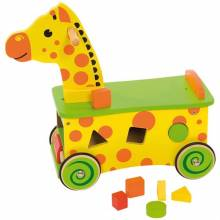 Giraffe Ride On Toddler Toy With Shape Sorter 1+
