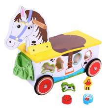 Pony Ride On Toddler Toy With Shape Sorter 1+