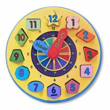 Shape Sorting Clock 22.5cm - Learn and play  3yr+