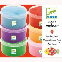 6 Pots of Light Clay Air Modelling Clay By Djeco 6+yrs