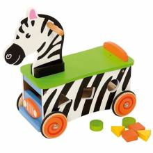 Zebra Ride On Toddler Toy With Shape Sorter 1+