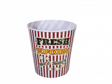 Fresh Popcorn Bucket Hot & Buttery.