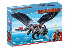 Hiccup & Toothless Dragons Playmobil 9246