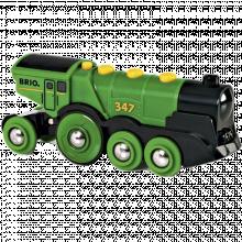 Big Green Action Locomotive Train BRIO® Wooden Railway 3+